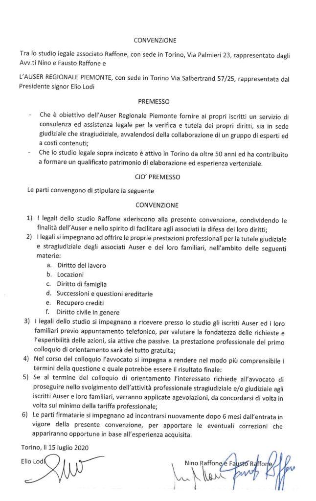 CONVENZIONE STUDIO RAFFONE 2020